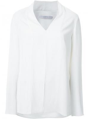 Блузка с V-образным вырезом Dion Lee. Цвет: белый