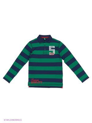 Футболка-поло United Colors of Benetton. Цвет: темно-синий, зеленый