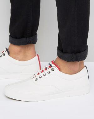 Tommy Jeans Белые парусиновые кеды Yarmouth. Цвет: белый
