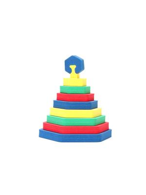Пирамида Шестиугольник БОМИК. Цвет: синий, желтый, зеленый