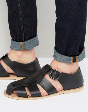 Dead Vintage Гладиаторские сандалии. Цвет: черный