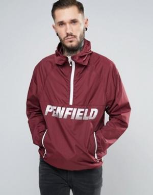 Penfield Бордовая легкая куртка через голову. Цвет: красный