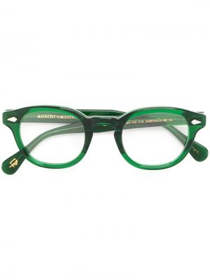 Очки Lemtosh Moscot. Цвет: зелёный