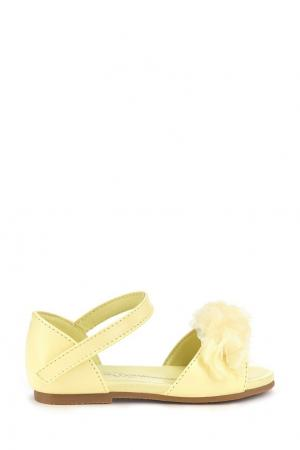 Желтые сандалии с декором Olivia Age of Innocence. Цвет: желтый