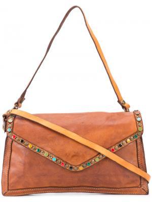 Декорированная сумка через плечо Campomaggi. Цвет: коричневый