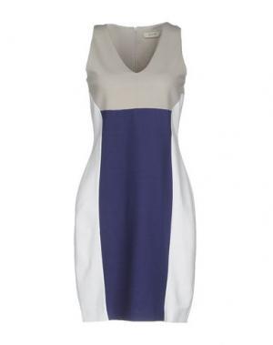 Короткое платье ALPHA STUDIO. Цвет: светло-серый