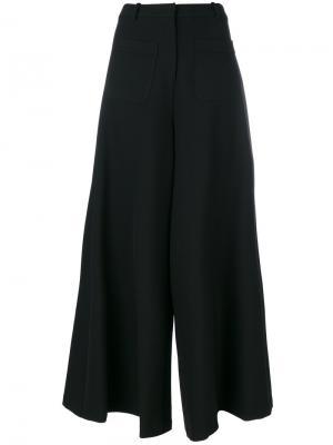 Расклешенные брюки Vivetta. Цвет: чёрный