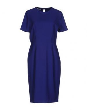 Платье до колена LALTRAMODA. Цвет: ярко-синий