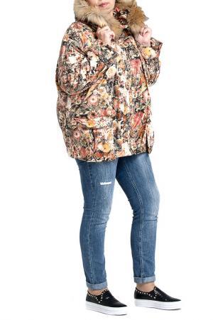 Куртка Modress. Цвет: принт цветы