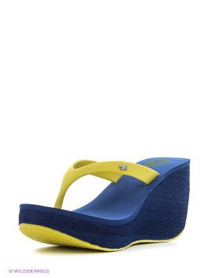 Сабо ZAXY. Цвет: синий, желтый