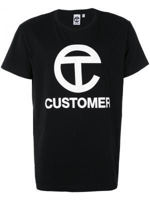 Футболка Customer Telfar. Цвет: чёрный