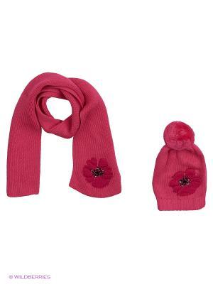 Комплект детский (шапка,шарф) R&I. Цвет: коралловый
