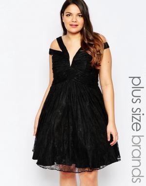 Forever Unique Приталенное платье на бретелях. Цвет: черный