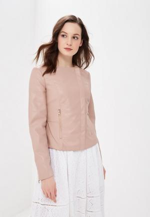 Куртка кожаная Zarina. Цвет: розовый