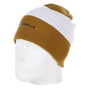 Шапка носок  Stripe Beanie Brown/White Armour. Цвет: коричневый,белый