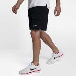 Мужские теннисные шорты Court Breathe 23 см Nike. Цвет: черный