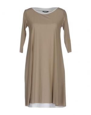 Короткое платье ALMERIA. Цвет: голубиный серый