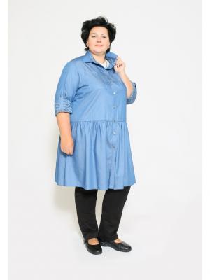 Рубашка EVGENIA STYLE. Цвет: синий