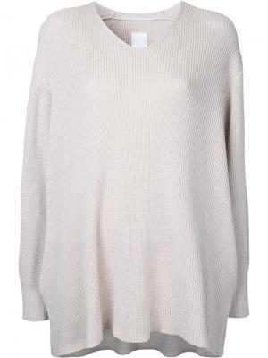 Свободный свитер Cityshop. Цвет: телесный