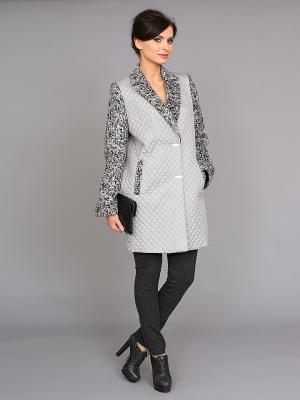 Пальто nasha. Цвет: серый