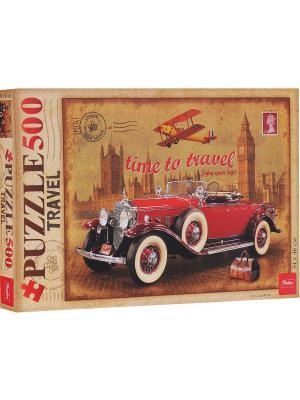Пазл 500 элементов  -Ретро автомобиль- Издательство Хатбер-пресс. Цвет: оранжевый