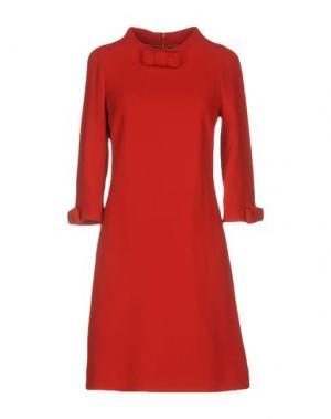 Короткое платье EDWARD ACHOUR. Цвет: красный