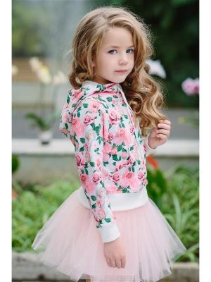 Куртка DUWALI. Цвет: светло-коралловый, молочный