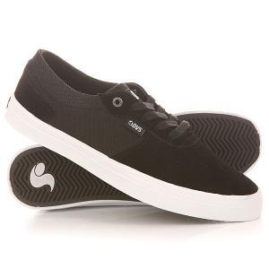 Кеды кроссовки низкие  Merced Black/White/Suede DVS. Цвет: черный