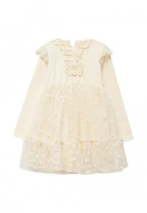 Платье Cascatto. Цвет: бежевый