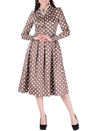 Платье Mannon. Цвет: молочно-коричневый