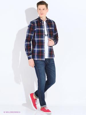 Рубашка Fred Perry. Цвет: синий, красный