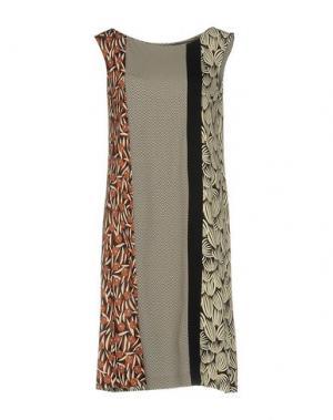 Платье до колена SIYU. Цвет: слоновая кость