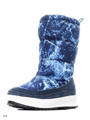 Дутики EVITA. Цвет: темно-синий, лазурный, синий