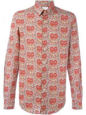 Приталенная рубашка Paul Smith. Цвет: красный