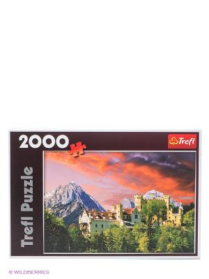 Пазл Замок Гогеншвангау, Бавария, 2000 деталей Trefl. Цвет: зеленый, серый, голубой, красный, оранжевый, желтый, белый, синий