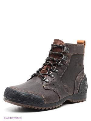 Ботинки SOREL. Цвет: темно-коричневый