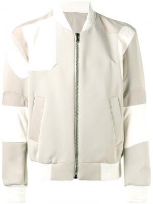 Куртка-бомбер Wooyoungmi. Цвет: телесный
