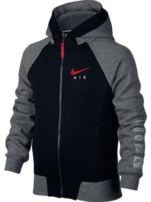 Толстовка B NK AIR HOODIE FZ BF Nike. Цвет: черный