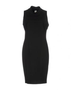 Платье до колена ONE. Цвет: черный