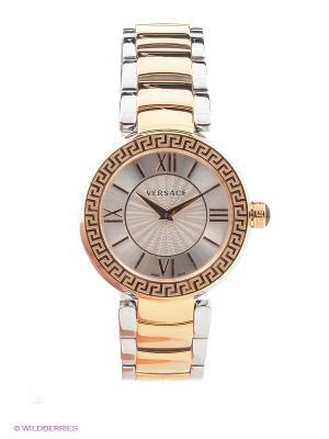Часы Versace. Цвет: золотистый, серебристый