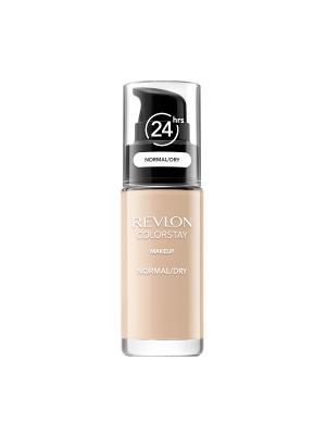 Тональный крем для норм-сух кожи Colorstay Makeup For Normal-Dry Skin, Natural beige 220 Revlon. Цвет: темно-бежевый