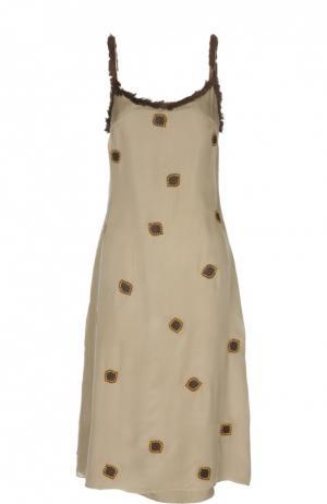 Платье Jupe by Jackie. Цвет: бежевый
