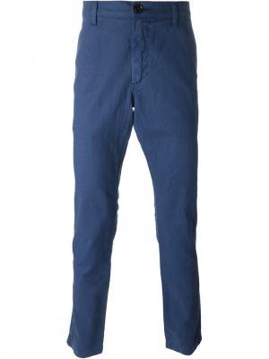 Чиносы кроя слим Paul Smith Jeans. Цвет: синий
