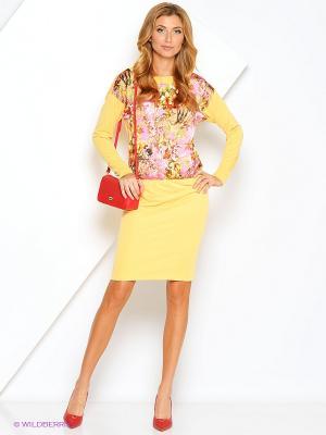 Платье Xarizmas. Цвет: желтый, розовый