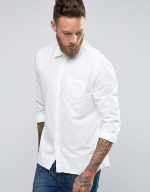 Nudie Jeans Рубашка Henry Bastiste. Цвет: белый