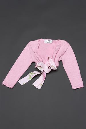 Кардиган джерси с поясом Lesy. Цвет: розовый