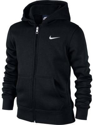 Толстовка B NSW HOODIE YA76 BF FZ Nike. Цвет: черный, белый