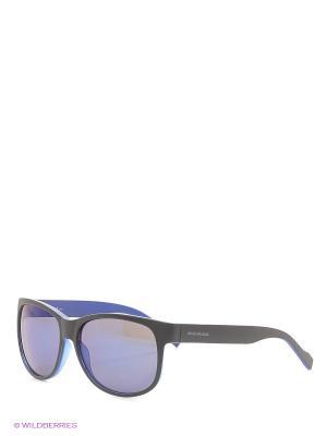 Солнцезащитные очки HUGO BOSS. Цвет: черный, синий