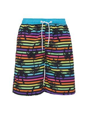 Плавательные шорты Тенерифе Nothing but Love. Цвет: синий, голубой, желтый