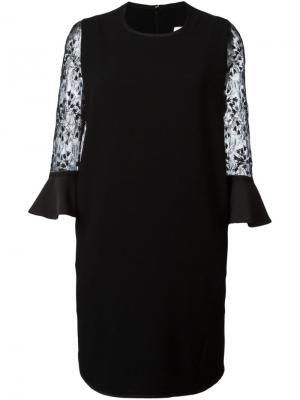 Платье с кружевными деталями Mame. Цвет: чёрный